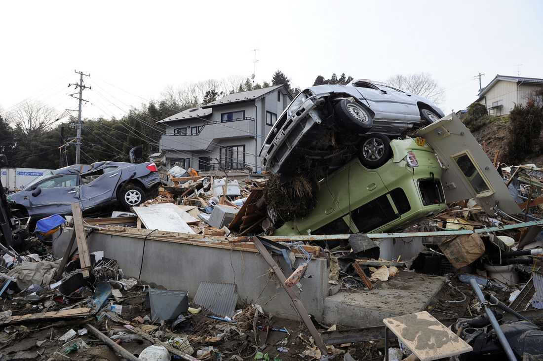 Förödelsen är total i flodvågsdrabbade Kesennuma.