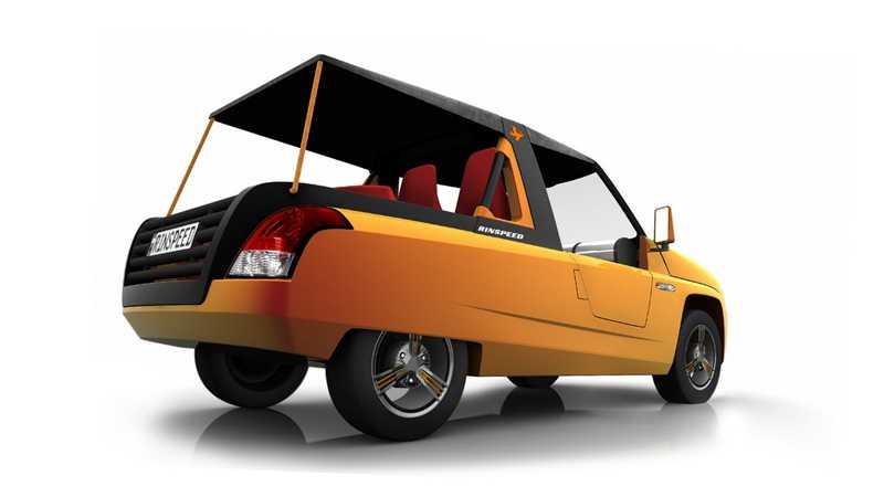 Rinspeed Bamboo är en avskalad elbil.