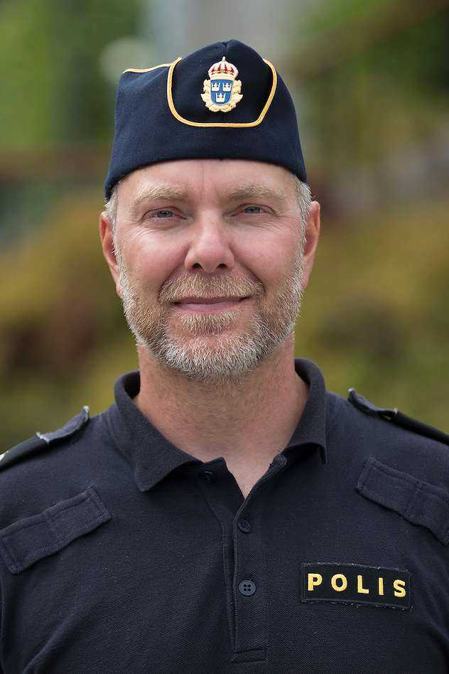 Daniel Hjerpe, polis i Ale kommun.