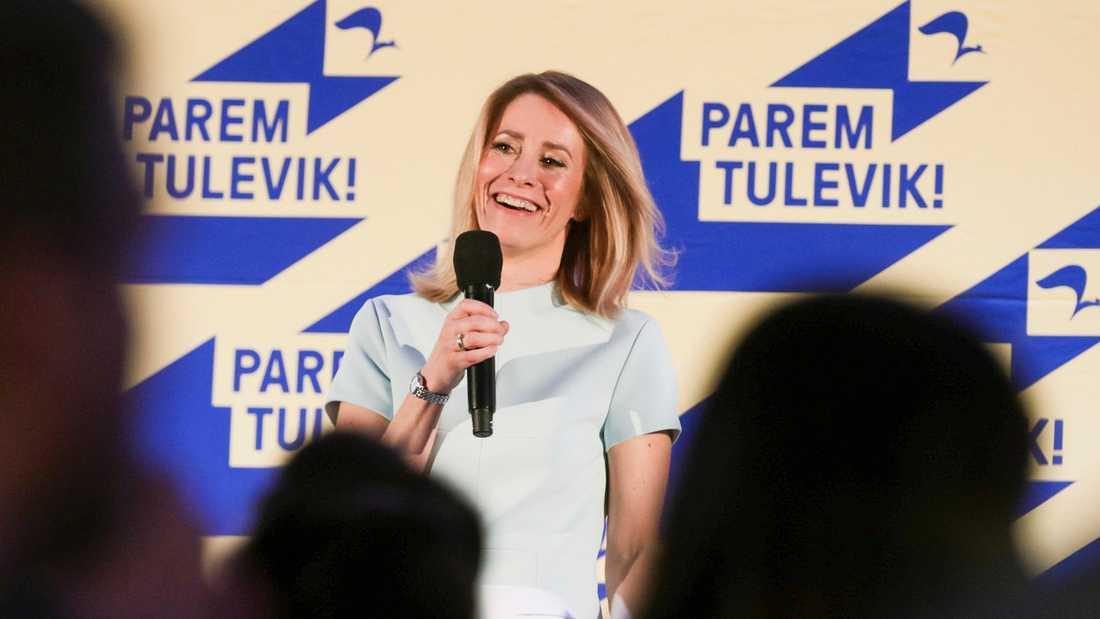 Reformpartiet som Kaja Kallas leder vann valet i Estland på söndagen.