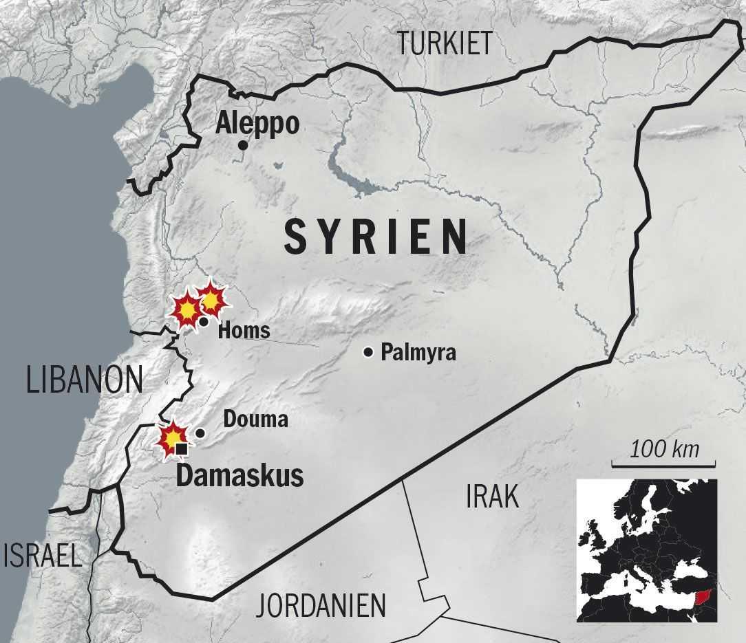 USA:s, Storbritanniens och Frankrikes militära mål i Syrien.