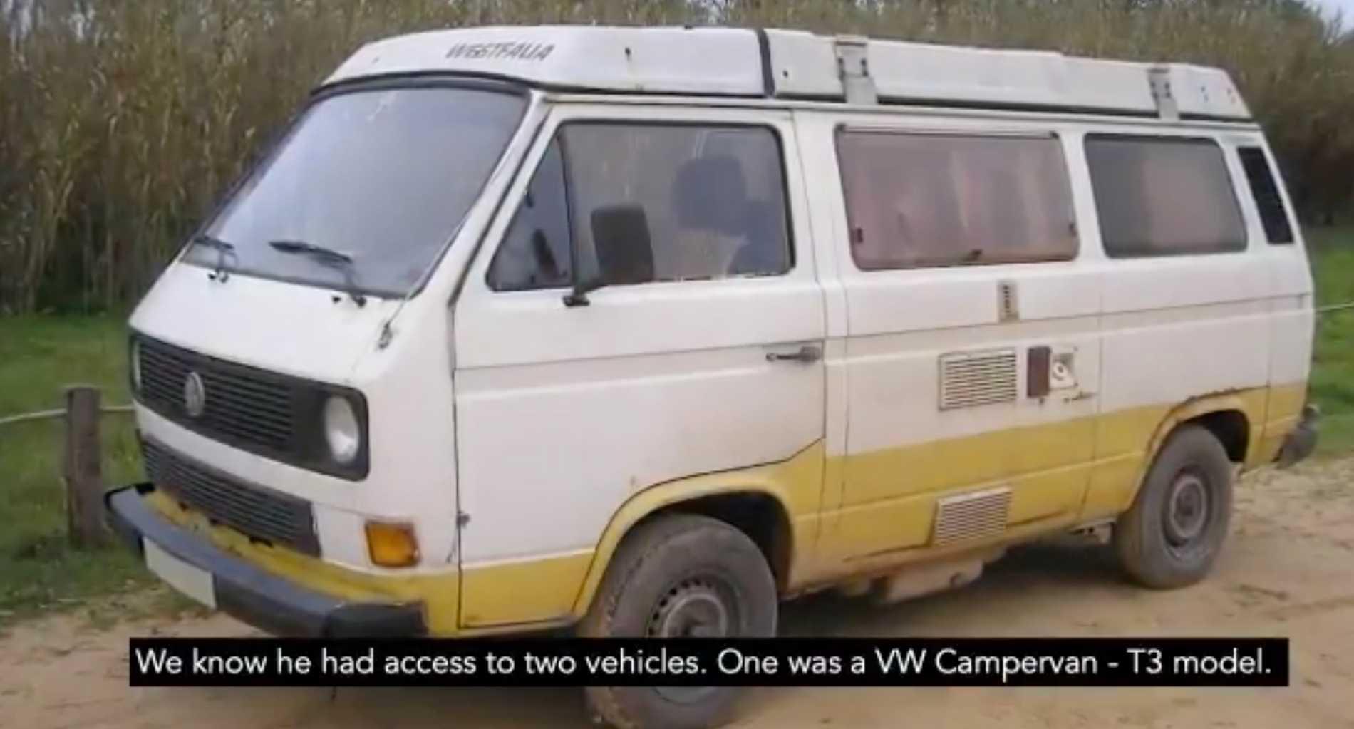 Polisen är särskilt intresserad av en minibuss som 43-åringen ska ha bott i när han vistades i Portugal.