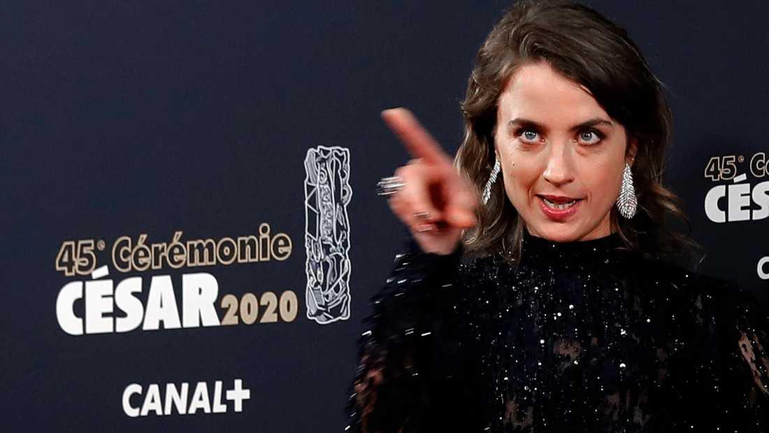 Skådespelaren Adèle Haenel på franska Césargalan.