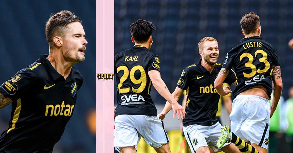 Lustig målskytt i AIK:s derbykross