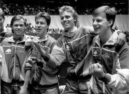 Bordtennislandslaget 1989.