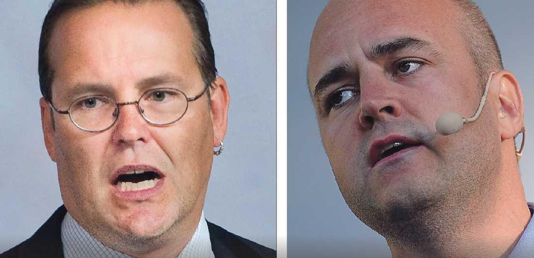 Krisexperter?  Finansminister Anders Borg och statsminister Fredrik Reinfeldt slipper för lätt undan.
