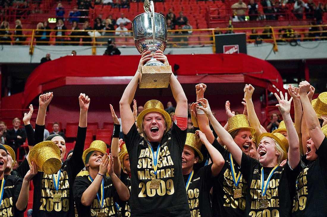 Amanda Wendelstig när Balrog tog SM-guld 2009.