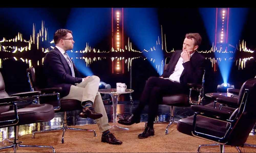 Jimmie Åkesson träffar Skavlan.