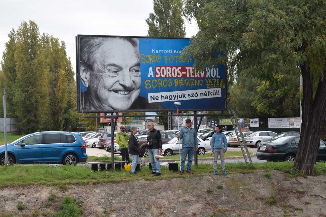 Från den ungerska kampanjen mot George Soros 2017.