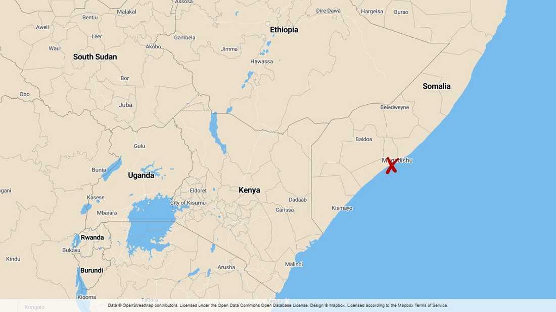 11 människor har skadats i ett bombdåd i Mogadishu.