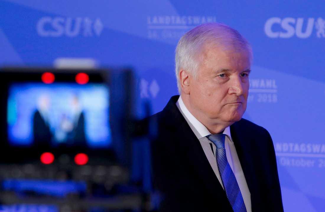 Horst Seehofer, partiledare i CSU.