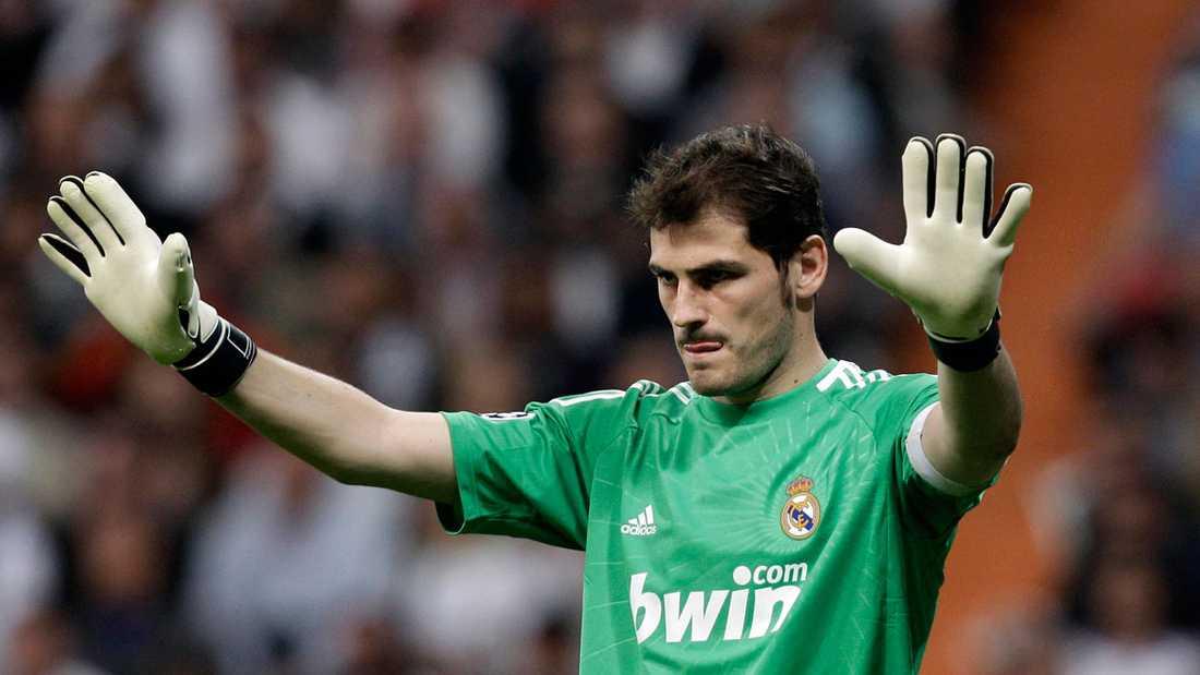 Casillas i Real-tröjan.
