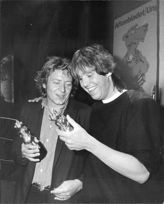 5 Rockbjörnar Så många har Ulf Lundell vunnit genom åren. Per Gessle stod till höger om Uffe 1983 med sin första av totalt Rockbjörnar.