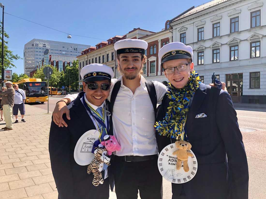 Emil Bergman, Yakin Mestour och Hampus Prytz från ES17D på Malmö latinskola.