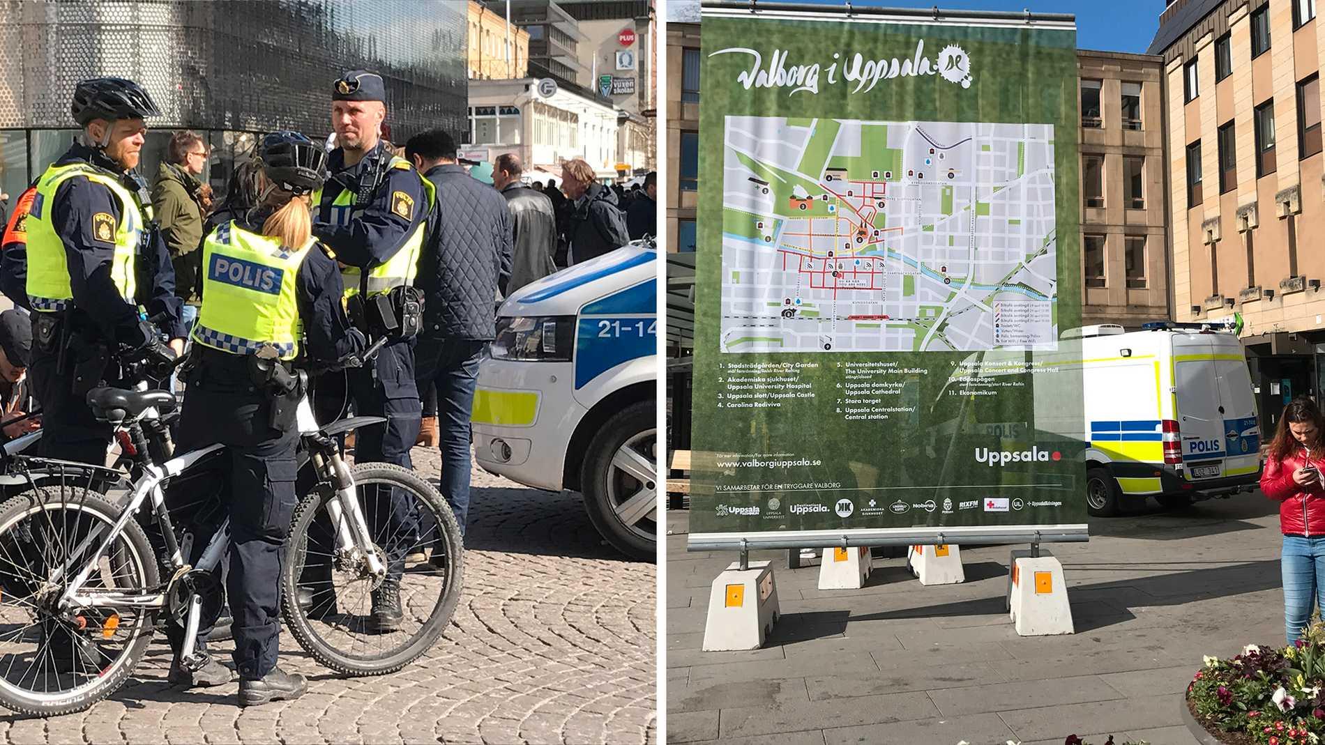 Polisen räknar med folksamlingar även om valborgsfirandet stängts in.