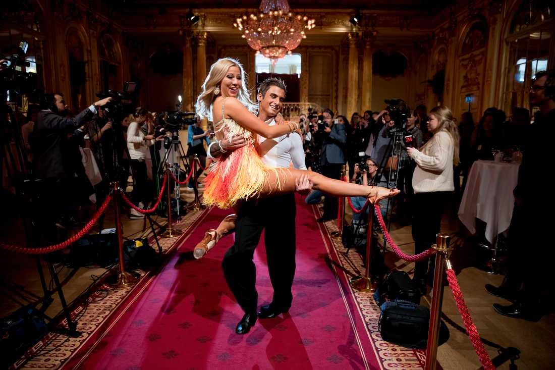 """Sigrid Bernson och Samir Badran är danspartners i """"Let's dance"""" 2017."""