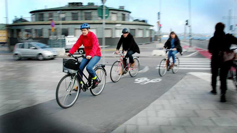Cyklister ingår i den grupp av oskyddade trafikanterna där olyckorna ökar.