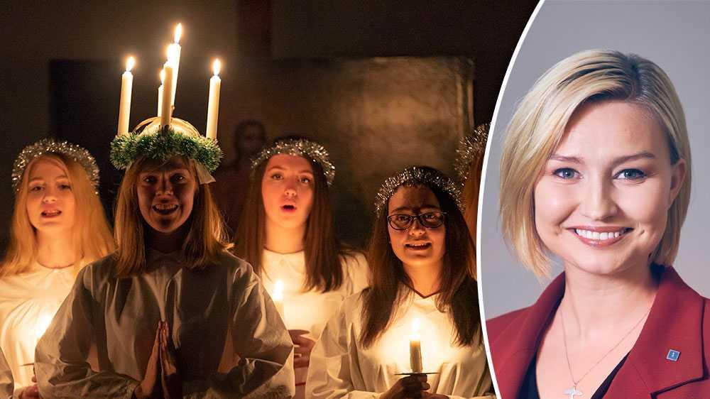 """Det var länge sedan vi hade en vinter befriad från påpekanden om att Lucia faktiskt är ett katolskt helgon från Sicilien, eller från historielösa omskrivningar som """"helgskinka"""", skriver Ebba Busch Thor,partiledare (KD)."""