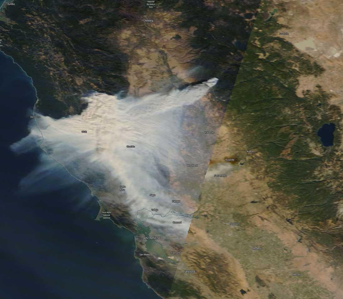 Bränderna i Chico, Californien, 8 november