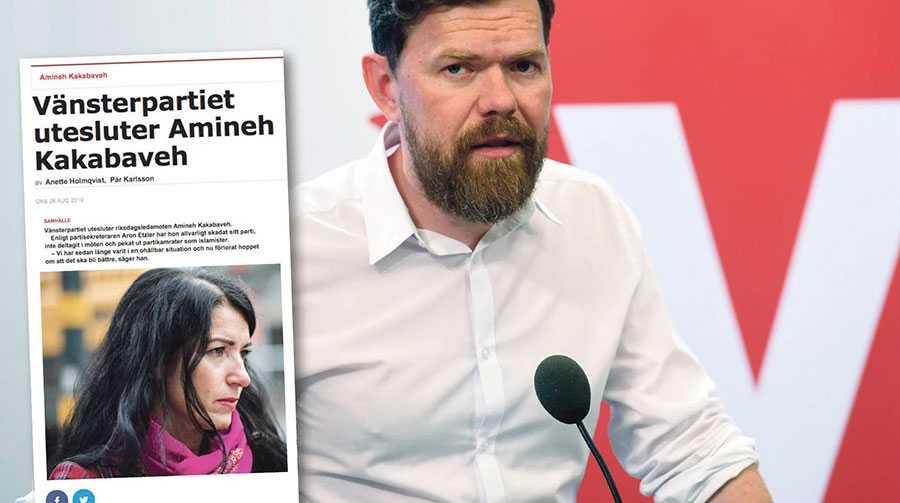 Förtroende för Vänsterpartiets partisekreterare Aron Etzler hos oss som lämnat partiet är helt förbrukat – men så känner också många som fortfarande är kvar i partiet, skriver debattörerna.