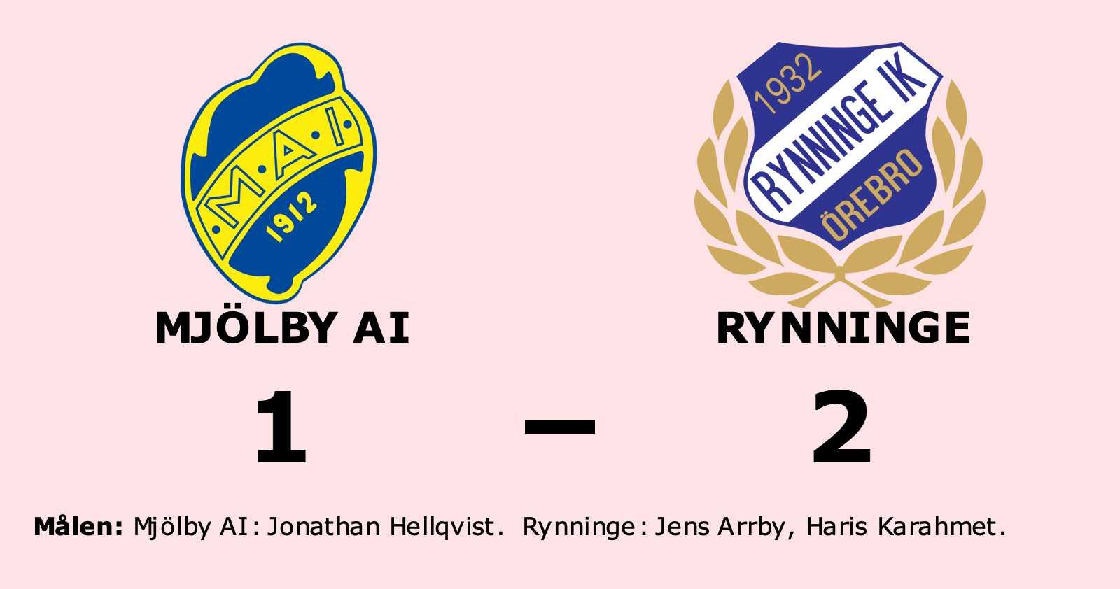 Jonathan Hellqvist enda målskytt när Mjölby AI föll