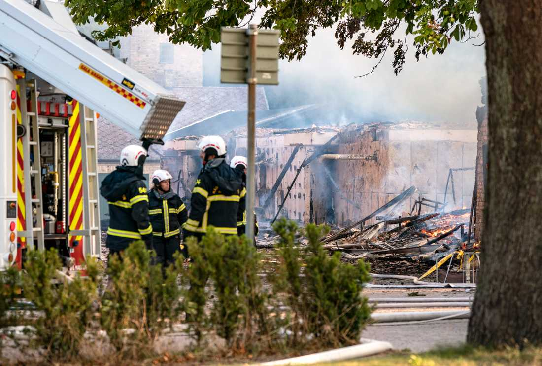 Strax efter klockan 04 inkom larm om en brand på Lantbruksuniversitetet i Alnarp i Skåne län.
