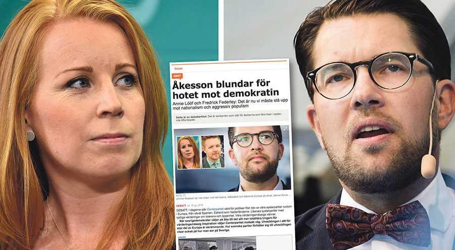 """Om detta är vad Centerpartiet avser med att vara ett """"värderingsmässigt föredöme i Europa"""" så menar Sverigedemokraterna att de kan behålla de värderingarna för sig själva, skriver Jimmie Åkesson."""
