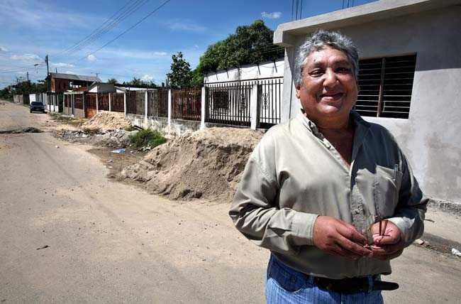 Francisco Escorcha barndomsvän och klasskamrat i staden Sabaneta.