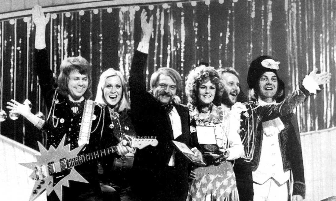"ABBA vann i Storbritannien 1974 med ""Waterloo""."