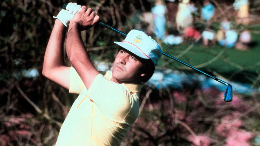 Severiano Ballesteros under en tävling 1980.