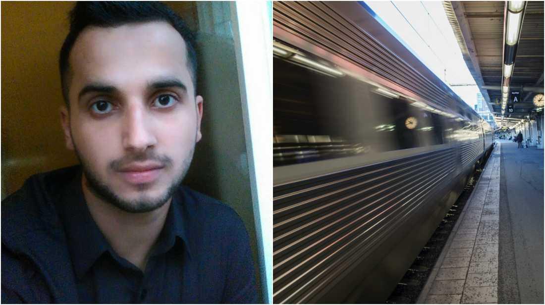 Abdul, 17, räddade avtuppad man från tågspåret