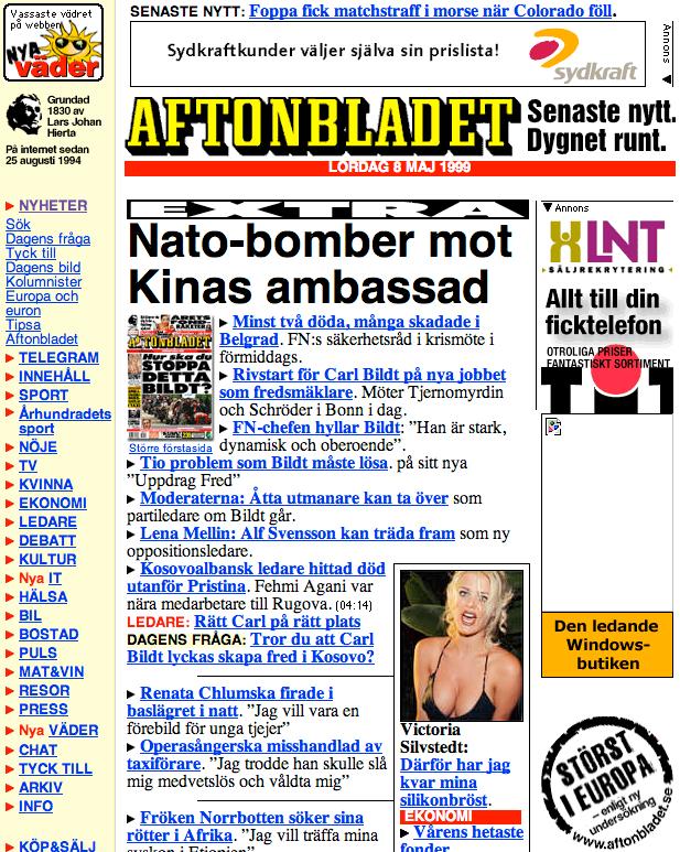 Aftonbladet 1999.
