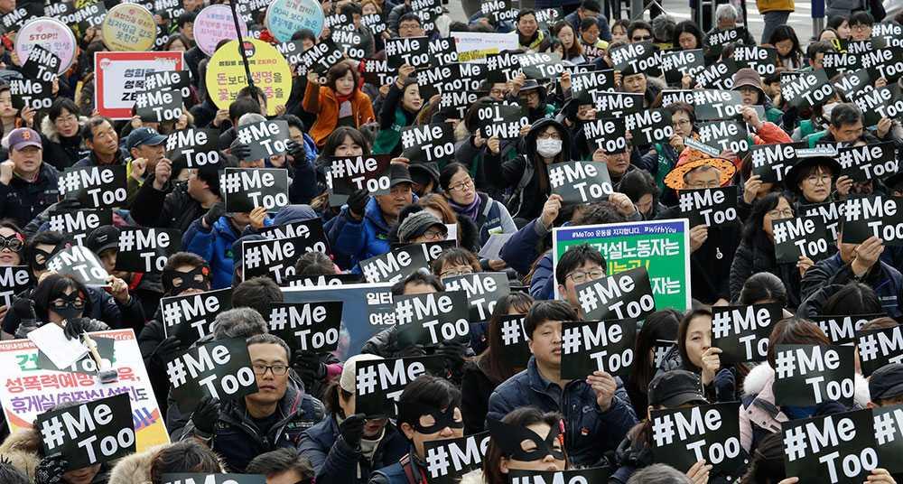 Metoo-demonstration i Seoul, Sydkorea, 2018.
