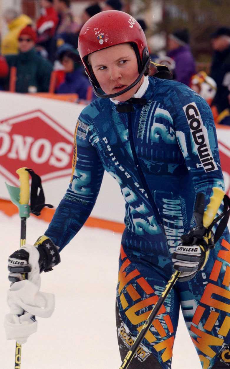 1997 Anja Pärson under SM i slalom 1997 – endast 16 år gammal.