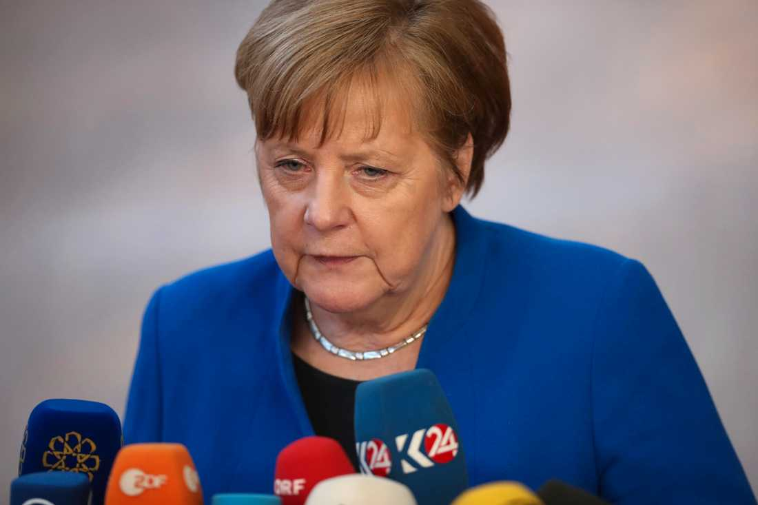 Tyskland Angela Merkel stödjer EPP-gruppens Manfred Weber.