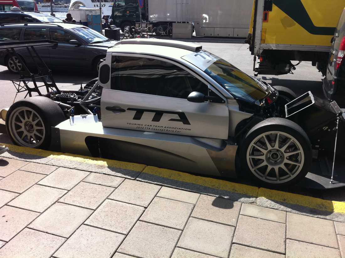 En av konceptbilarna inför 2012 års säsong av Swedish Racing League by TTA.
