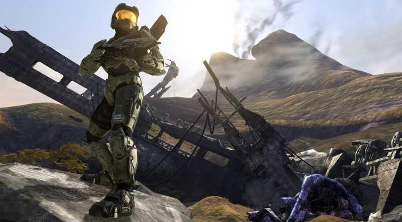 En scen ur tv-spelet Halo 3.