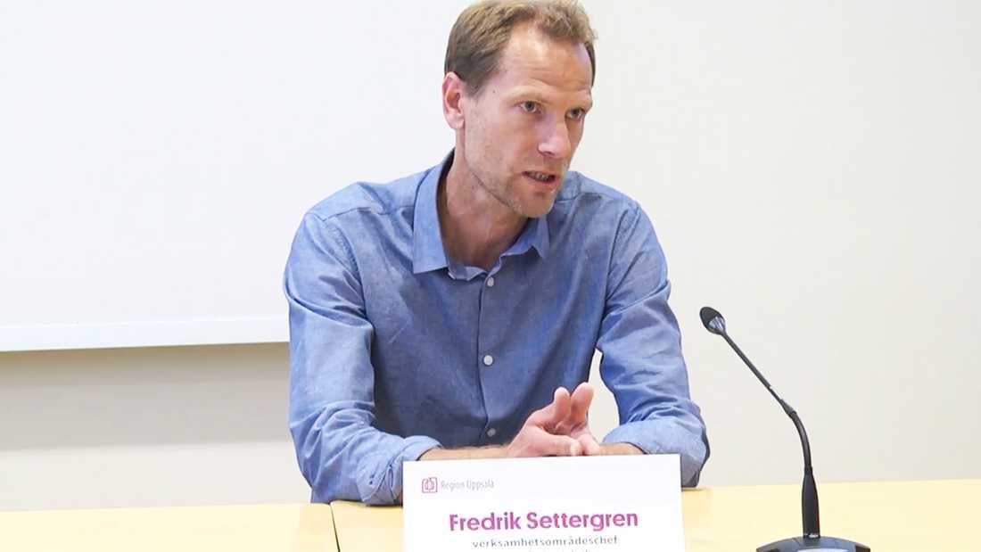 Fredrik Settergren, verksamhetsområdeschef för nära vård och hälsa på Region Uppsala.