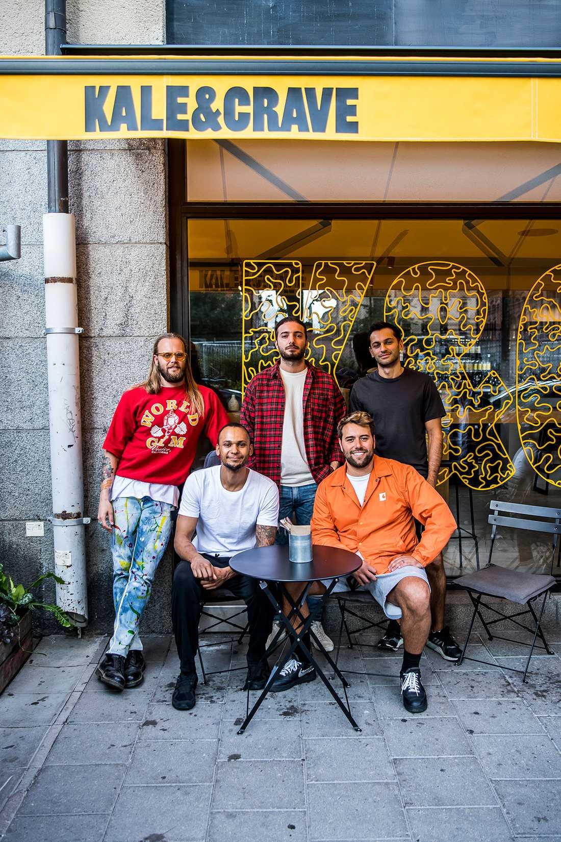 Sebastian Ingrosso, Alesso och Vincent Pontare. Sethan Stojanov och Victor Hodell.