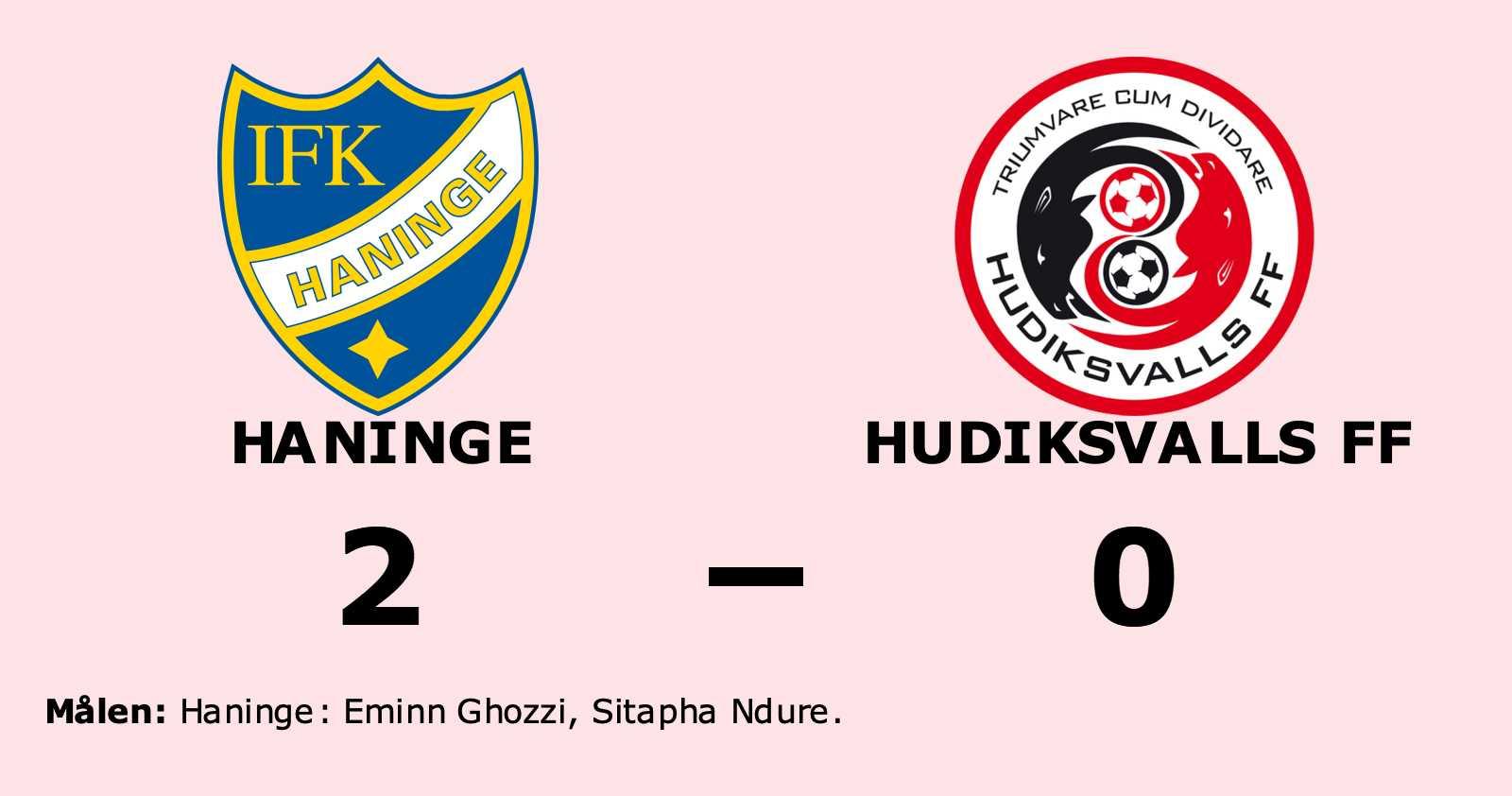 Eminn Ghozzi och Sitapha Ndure sänkte Hudiksvalls FF