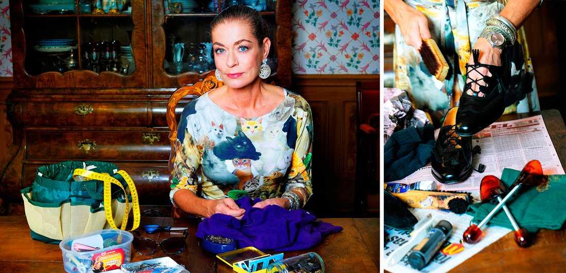 """a1575cfd6f7e VAN ATT LAGA Camilla Thulin är uppvuxen med att vårda sina kläder. """"I ett"""