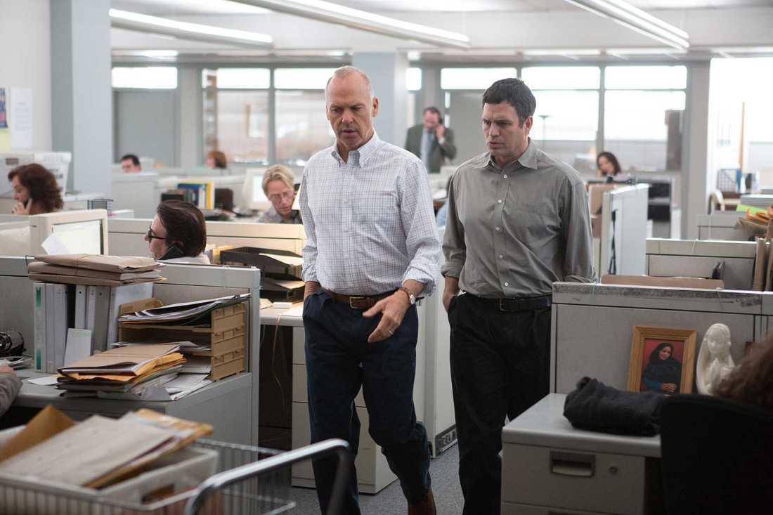"""Mark Ruffalo och Michael Keaton i """"Spotlight""""."""