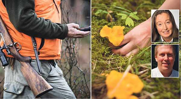 Det är rimligt att användandet av allemansrätten är begränsat under jaktsäsongen, skriver Solveig Larsson och Mikael Hultnäs från Jägarnas riksförbund.