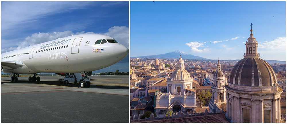 SAS startar flera direktlinjer i sommar. Bland annat till Catania på Sicilien.