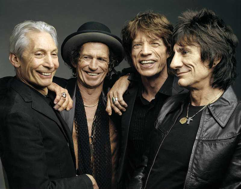 Mick Jagger, Keith Richards, Ronnie Wood och Charlie Watts.