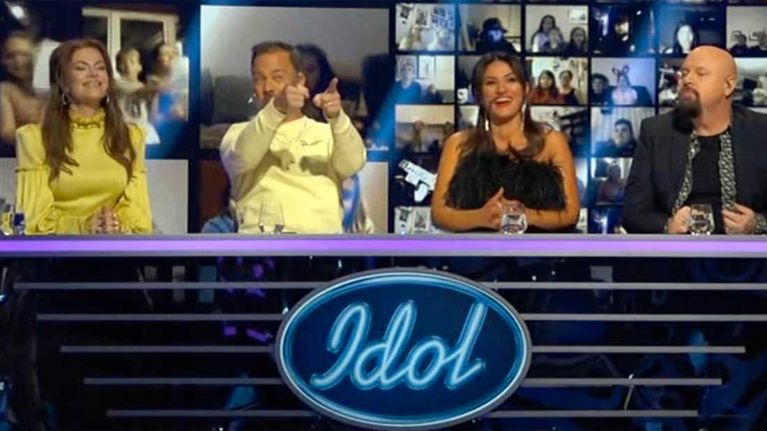 """Bara glada miner i """"Idol""""-juryn för det mesta som bjöds."""