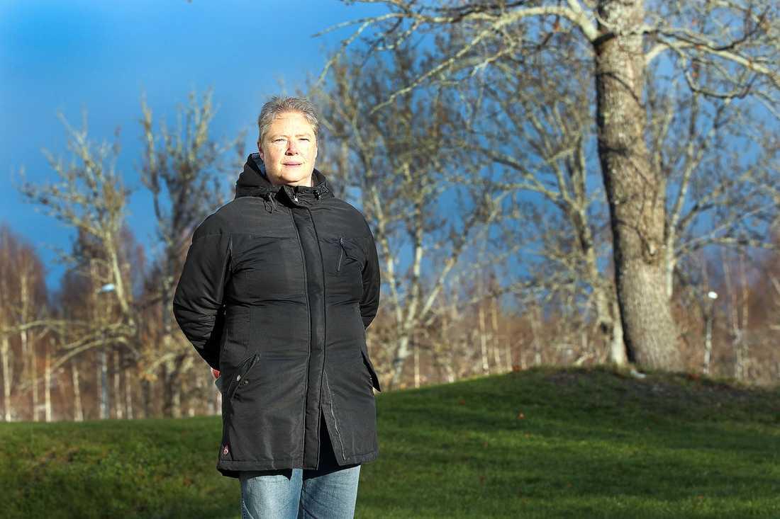 Lena Nilsson utan mask.