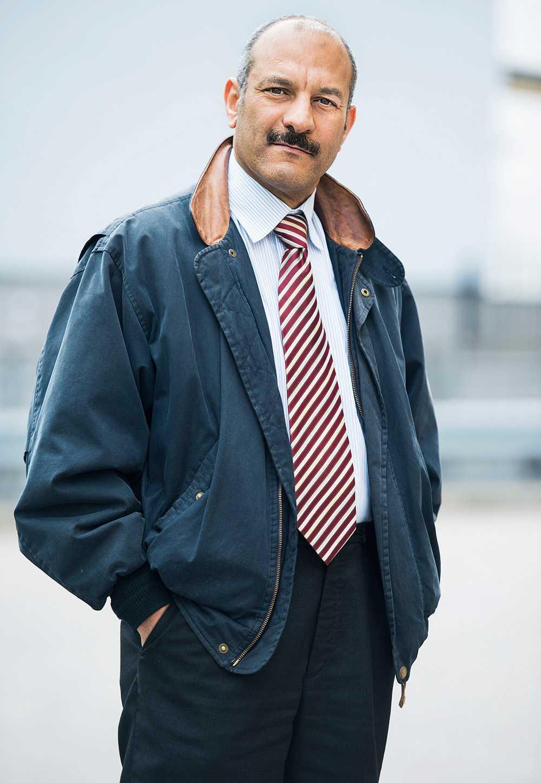 Abdelfattah Hegab blev brännskadad ombord på flyget.