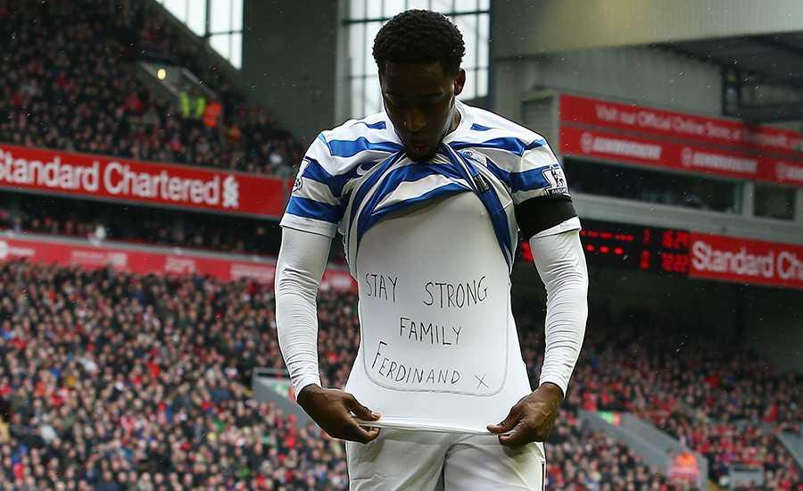 QPR:s Leroy Fer skänkte sina tankar åt Ferdinand efter sitt mål.