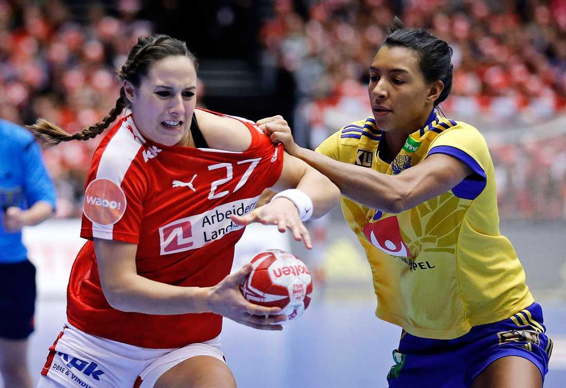Sverige åkte ut mot Danmark i åttondelsfinalen.